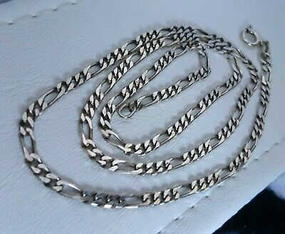 "QUALITY ITALIAN 18"" L STERLING SILVER 3mm WIDE CURB LINK CHAIN NECKLACE 925"