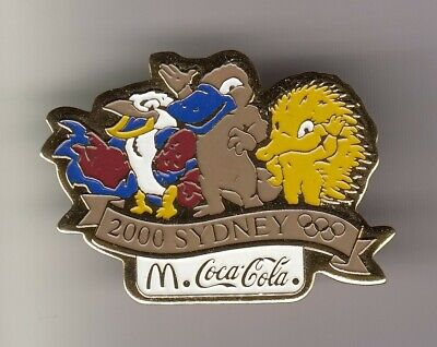 Rare Big Pins Pin's .. Olympique Olympic Sydney 2000 Mc Donald's Coca Cola  ~19