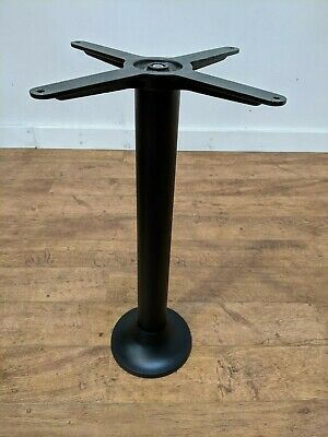 New Bolt Down Satin Black Steel Table Base Restaurant Cafe Bistro