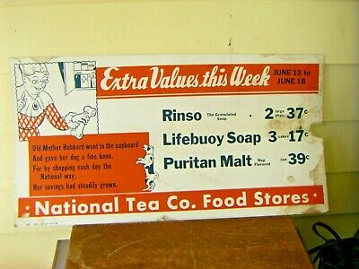 RARE 1940s WILBER/'S CHOCOLATE Small Cardboard SIGN...L@@K!
