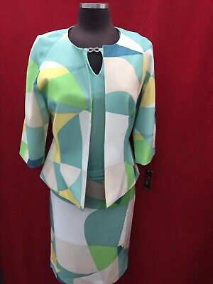 "John Meyer Skirt Suit/tank Top Included/retail$320/size 14/lined/skirt 25""/"