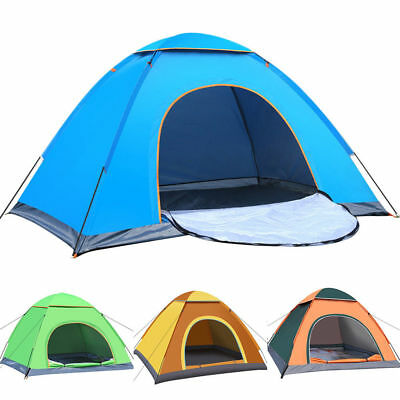 2 Man Person Pop Up Tent Festival Camping Hiking Beach Quick Fast Instant Pitch