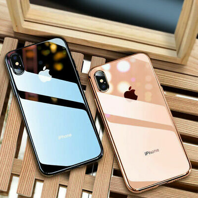 Cover Per Apple iPhone X XR XS Max 8 7 6S Plus Tempered Glass Custodie Con logo