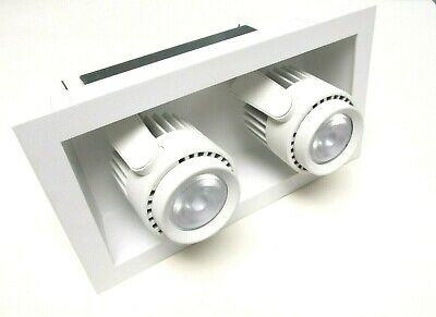 NIB.. Amerlux Hornet Recessed LED Luminaire (2) with Frame, White ... UN-001