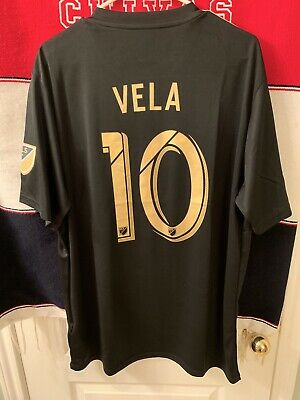 baca31400 ADIDAS LAFC AUTHENTIC Home Jersey 2018 Black/Gold Size Large Carlos ...