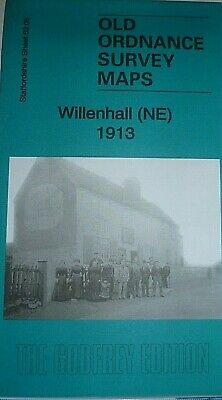 Old Ordnance Survey Maps Willenhall NE Staffordshire 1913 Godfrey Edition New