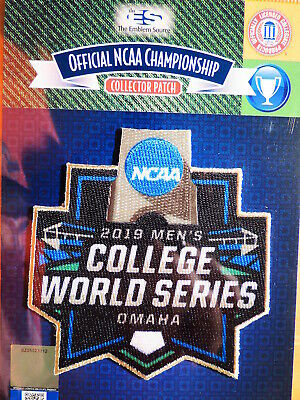 Official NCAA 2019 Men's College Baseball World Series Iron-On or Sew-On Patch
