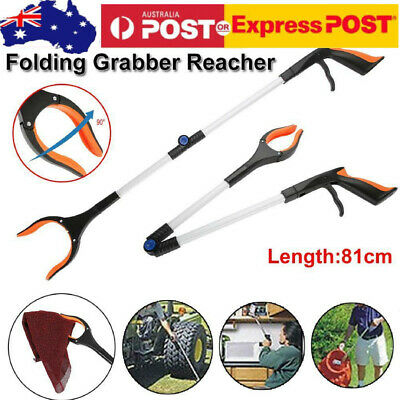 81CM Foldtable Grabber Pick Up Tool Reacher Extend Easy Assist Stick Trash Stick