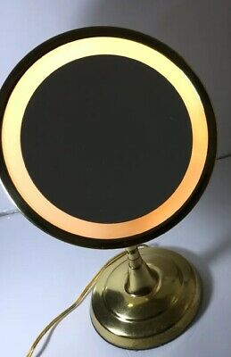 Vintage American Lighted Circular Vanity Mirror The Nova Ton Jon Company Working