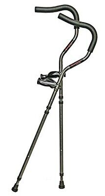 In Motion Millennium Medical Crutches Folding Tall Aluminum Charcoal Grey