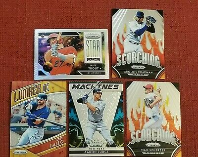 2019 Panini Prizm Aaron Judge Mike Trout Machines Star Gazing Lumber Inc 5 Cards