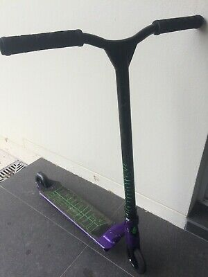 Custom prodigy envy scooter purple/green/black