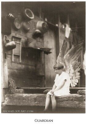 Guardian | Latchkey Kid Wall Art | Vintage Photo | Surreal Collage