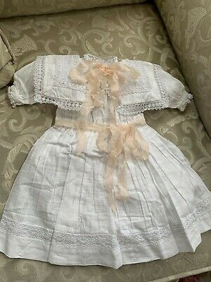 Antique Replica Lace Doll Dress for French Jumeau Bru or German Kestner Doll