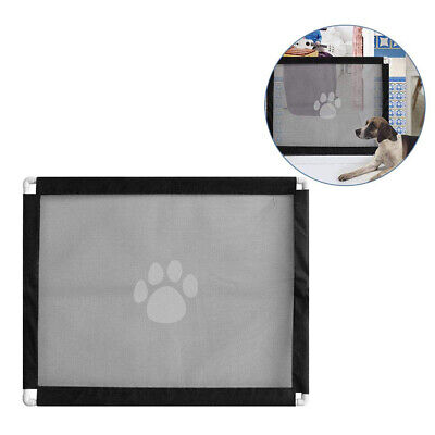 Retractable Mesh Pet Dog Gate Safety Guard Folding Baby Toddler Stair Isolation