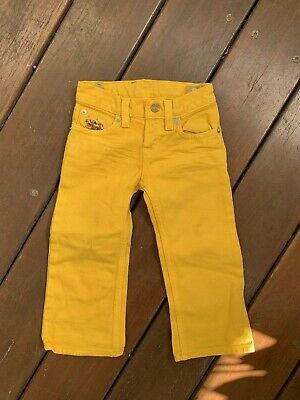 Boys Girls Toddler Yellow Pants Polo Ralph Lauren Designer Size 2