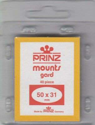 Prinz/Scott Stamp Mounts: 50x31 - Black