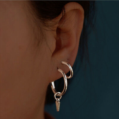 4 Pairs/Set Women Fashion Gold Silver Small Mini Hoop Earrings Jewelry Gift RF