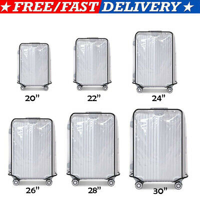 CA Universal Waterproof Transparent Protective Luggage Suitcase Cover Case Bags