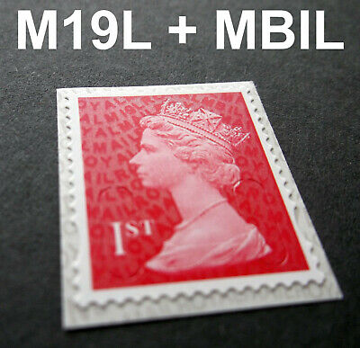 NEW JUNE 2019 1st Class M19L + MBIL MACHIN SINGLE STAMP from Business Sheets