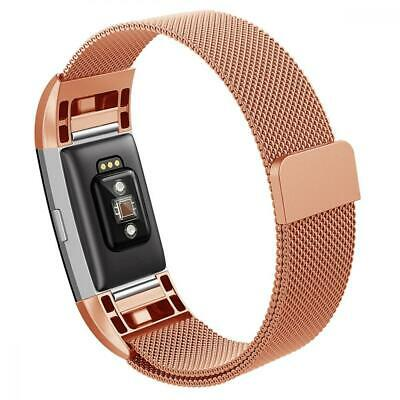 Fitbit Charge 2 Band,Hanlesi Replacement Metal Stainless Large, Rose gold