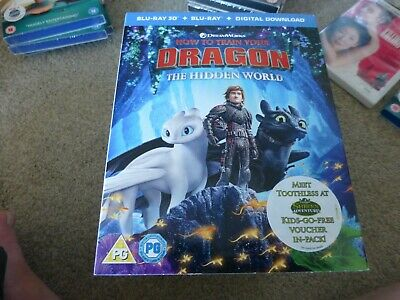 how to train your dragon - the hidden world 3d bluray + bluray sealed