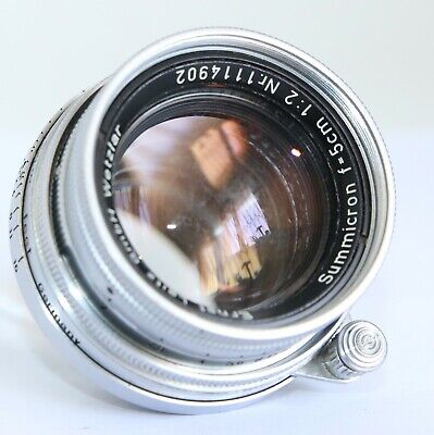 LEICA LEITZ SUMMICRON 5CM COLLAPSIBLE 50mm f2 50/2 M LENS READ WELL