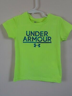New Boys Infant Toddler Short Sleeve Under Armour Tee Size 2T