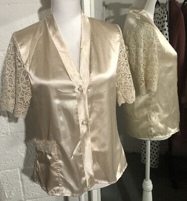 Pierre Cardin Paris  Ivory  Size M  Honeymoon Sexy Night Wear Pajama Set