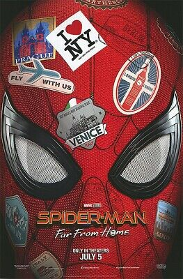 "Spider-Man Far From Home ""A"" vg 27x40 Original D/S Movie POSTER"