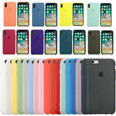 Originale Silicone Soft Cover Per Apple iPhone X XR XS Max 8 7 6S+Plus Custodie