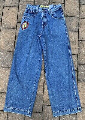 88232806c8c Vintage 1990s JNCO Jeans 30/32 90s Baggy Hipster Skating USA Made Blue Denim
