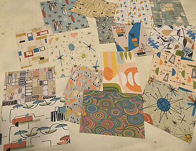 Retro Vintage Style 1960 Mid Century Atomic~Gift Tags/die Cuts 12 Piece