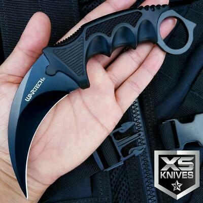 TACTICAL KARAMBIT HUNTING NECK KNIFE Combat Fixed Blade Survival BOWIE w/ Sheath