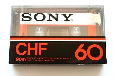 Sony Chf 60 Normal Position Type I Blank Audio Cassette - Japan 1978