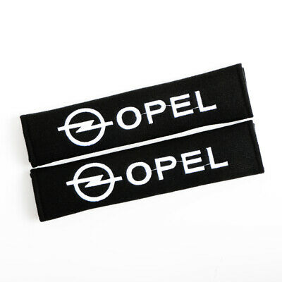 2pcs Car Seat Belt Covers Shoulder Pads Protect Safety Cushion Cotton For OPEL