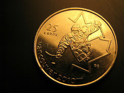 Canada 2009 Ice Sledge Hockey Vancouver 2010 Olympics 25 Cent Mint Grade Coin