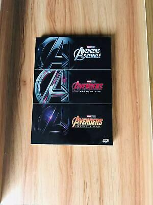 AVENGERS 1-3 DVD TRILOGY Collection  BOX SET NEW USA seller!