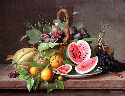 "oil painting handpainted on canvas ""Still life with Fruit""@N10431"