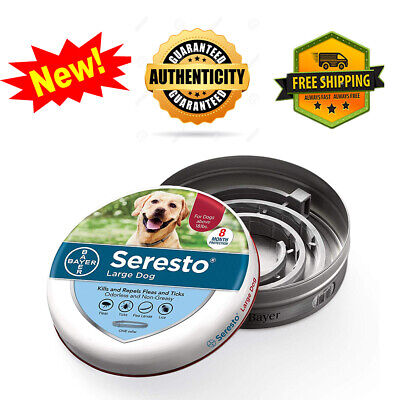Bayer Seresto Flea and Tick Collar for Large Dog Over 18 lb,Authentic