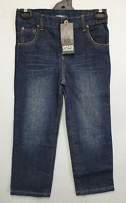 BNWT Boys Sz 4 Blue Denim Urban Crusade 5 Pocket Adjustable Waist Long Jeans