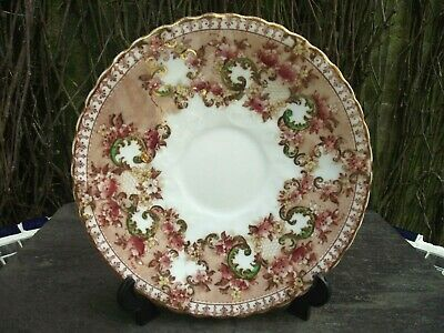 Extremely Pretty Antique Victorian Floral S Radford Saucer