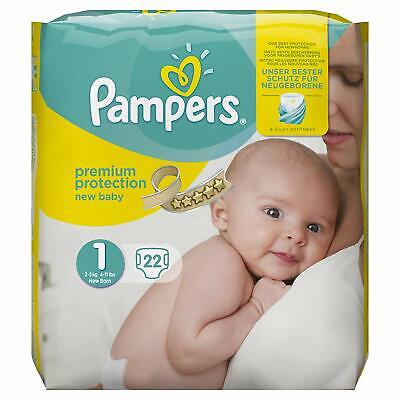 Pampers New Baby 96 Nappies, 2 - 5 kg, Size 1 FREE DELIVERY
