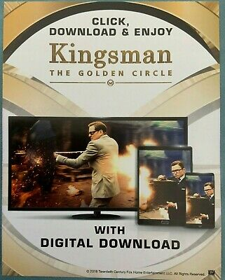 KINGSMAN THE GOLDEN CIRCLE - UV Digital Download (Not DVD BluRay 4k)