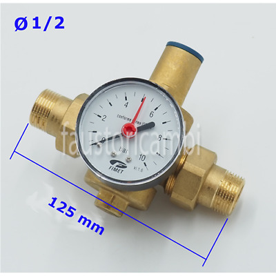 Water Pressure Reducer Ø 1/2 Pn 25 With Nozzles And Manometer