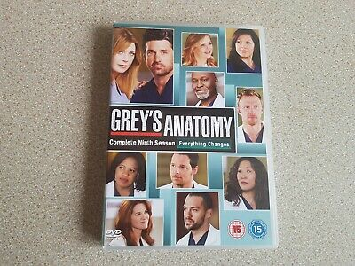 Greys Anatomy Complete Season 9 (6 Dvd Set) Genuine Uk