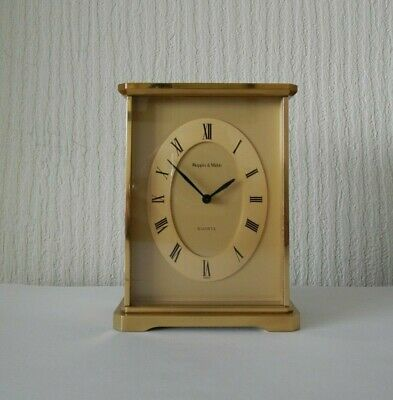 Mappin & Webb Solid Brass Quartz Movement Carriage Mantle Clock ~ Free UK Post