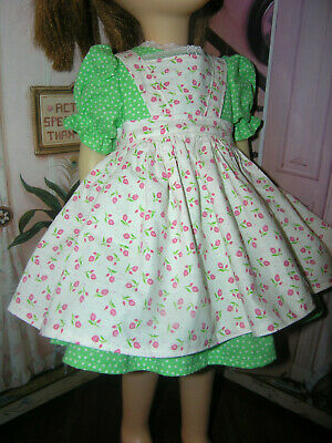 """3 Pc Set Dress Bloomers Apron 25"""" Doll clothes fits Mattel Charmin Chatty Cathy"""