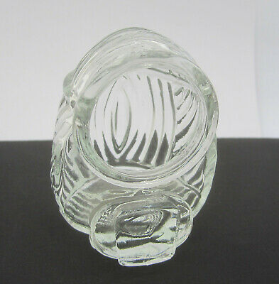 Vintage / Antique Art Deco Clear Glass USA Bird Cage Feeder Seed Water Cup Bowl