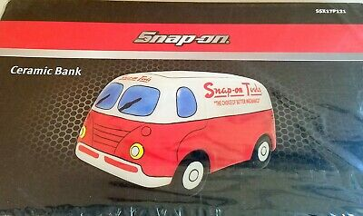 Snap On Tools Van Ceramic Piggy Bank Limited Edition SSX17P121